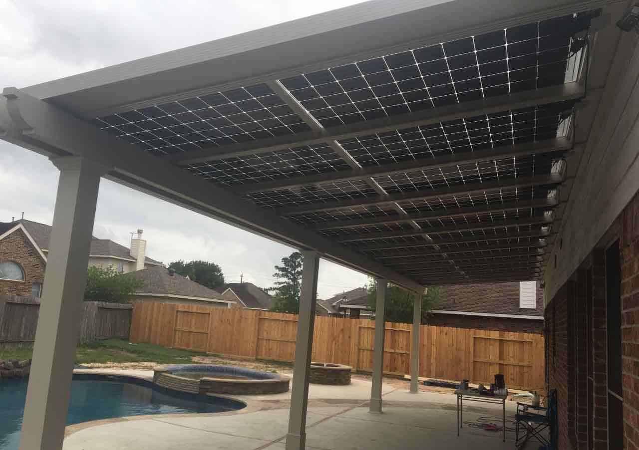 eHome By Design a Solar Power Company - pergola solar